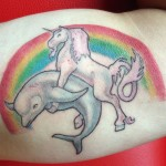 I am gayer than you tattoo