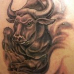 Taurus zodiac sign tattoo