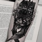 Bat house tattoo