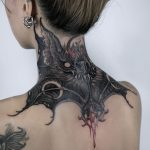 Bloody bat tattoo