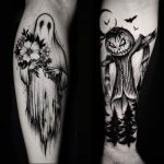 Ghost and scarecrow tattoo