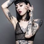 Goth body tattoo