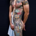 Japanese body color tattoo