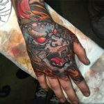 Japanese monster hand tattoo