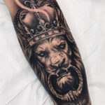 Lion jungle king tattoo