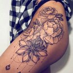 Rose lotus tattoo
