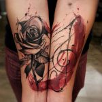 Rose music love tattoo