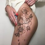 Sexy flowers tattoo