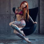 Sexy hot color girl tattoos